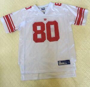 Unisex Reebok New York Giants Jeremy Shockey Jersey White #80 Teen XL18-20