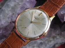 Longines 30L Vintage 18K Gold Manual-Wind Wrist Watch, Crosshair Dial,  35mm