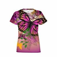 Butterfly Swirls Printed Mens T Shirts Casual Slim fit Short Sleeves Tee Top