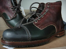 NWT ~ J.PRESS ~ Tri-Colored EASTLAND Multi Colored LEATER BOOTS New In Box 9.5 D