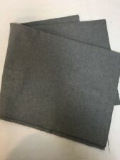 Gray Flannel Fabric 1 3/4 Yard x 60 Soft Remnant