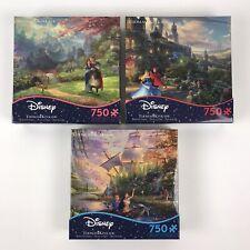 Thomas Kinkade Disney Pocahontas Mulan Sleeping Beauty Puzzles Ceaco 750 Pieces