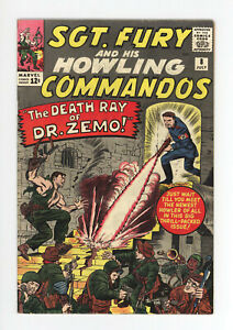 SGT. FURY And His HOWLING COMMANDOS #8 - DEATH RAY of Dr. ZEMO! 1964