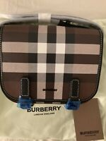 New Collection Authentic Burberry Crossbody Check E-canvas Messenger Bag