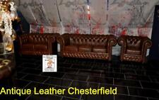 Chesterfield CHURCHILL 3+2+1 Kombi Echt Rinderleder  2018