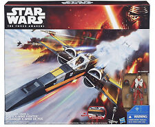 "STAR WARS FORCE AWAKENS POE DAMERON X-WING FIGHTER VEHICLE 3.75"" FIGURE SET"