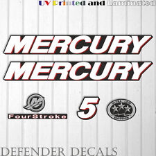 Mercury 5 HP Four Stroke outboard engine decal sticker kit reproduction 5HP