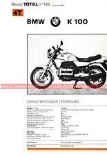 BMW K100 K100 1984  Fiche Technique Moto 000336