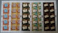 Singapore 150 Years Straits Settlements Postage Stamps Mint Never Hinged Sheet