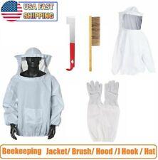 Adult Beekeeping Suit Bee Keeping Equipment Gloves Hive Brush Hook Veil Set Tool