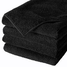 "24 Microfiber 400GSM Professional 16""x27"" Salon Towels (Black)"