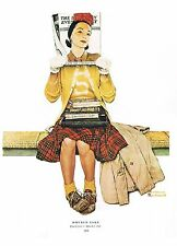 "Norman Rockwell print: ""THE DOUBLE TAKE"" 11""x15"" Post cover humorous glamour pun"
