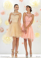NEW DEMURE SHORT PROM BRIDESMAIDS SWEET 16 DRESSES COCKTAIL HOMECOMING PLUS SIZE