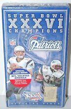 New England Patriots Super Bowl XXXVI Champions 2001 Official Video VHS New OOP