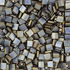 Miyuki Tila Seme Perline Argento Metallizzato Opaco Grigio (5mm) venduto in 7.2g (k80/6)