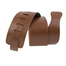 Brown Adjustable Soft Faux Leather Thick Strap for Electric Acoustic Guitar Bass