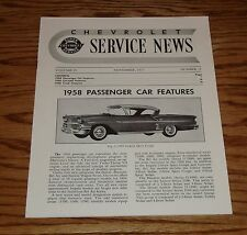 1957 Chevrolet Service News Magazine 1957-1958 Cars 57 58