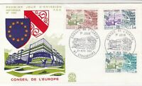 France 1981 Council of Europe Pic Cancels + Buildings Stamps FDC Cover Ref 31697