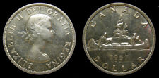 Canada 1957 Silver Dollar Queen Elizabeth II MS-60