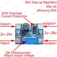 DC-DC Step up Boost Power Supply Module Adjustable Regulator 5v 6v 9v 12v 15v 2A