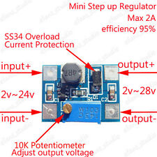 2A DC Boost Step up Adjustable Converter Module 2-24V to 3v-28v 5v 6v 9v 12v 24v