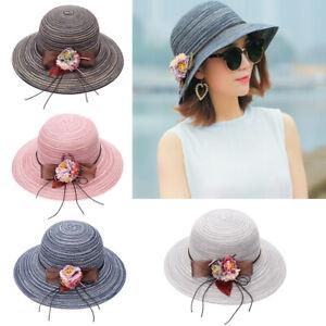 Wide Brim Floppy Derby Sunhat Beach Hats Sun Hat Panama Hat Straw Hat for Women