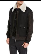 NWT$4995 FW20 ERMENEGILDO ZEGNA Black Shearling Lamb Fur Leather Jacket 52 EU L