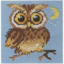 Alisa Counted Cross Stitch Kit - Owlet - Baby Owl