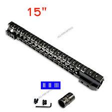 "15"" Slim Extra-long Free Float Keymod Quad Rail Handguard Steel Barrel Nut Rifle"