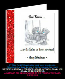 'Best Friends are the Sisters We Choose for Ourselves' Friend Christmas Card