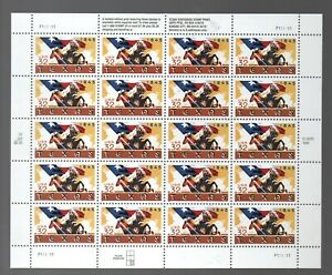 Usa: 1995; Scott 2968 in complete sheet of 20 Texas Statehood, mint Nh. US150/