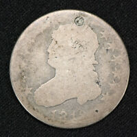 1819 25c CAPPED BUST, EARLY SILVER QUARTER LOT#V040