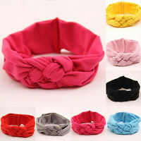 Baby Toddler Soft Girl Kids Hairband Turban Knitted Knot Cross Headband Headwear