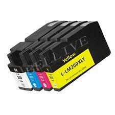 4 CARTUCCE 200XL COMPATIBILE PER STAMPANTE LEXMARK OfficeEdge Pro 5500t