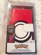 POKEMON IPHONE MAGNETIC CASE & WALLET IPHONE 6/7 NEW REMOVABLE