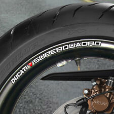 8 X DUCATI SUPER QUADRO WHEEL RIM STICKERS 999 996 749 B