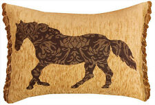 Horse Mosaic Rectangular Tapestry Pillow