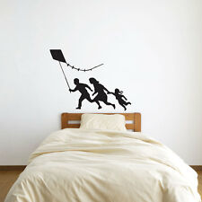 Banksy Family With Kite Vinyl Wall Art Decal for Home Decor / Interior Design...