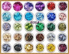 CK 001 - 032 Pailletten mit glitter verschiedene Farben  6mm/1000Stück