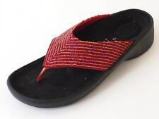 TATAMI Celine Birkenstock FB Sandalen 37 Textil Rot Schmal NEU