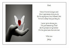 Personalised FATHERS DAY to your STEP DAD Poem Gift - Beautiful present