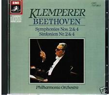 CD BEETHOVEN OTTO KLEMPERER SYMPHONIES NO. 2 & 4