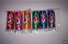 LOT of 5! Nice Satin Floral Lipstick Holder/Cases