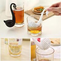Colander Swan Shape Tea Herb Strainers Infuser Filter Strainer Spoon Teaspoon LD