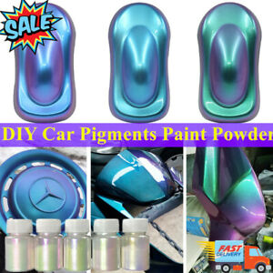 1/4PCS Chameleon Color Changing Pearl Powder For bicycle Car Paint Pigment 10g