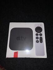 2021 Apple TV 64GB Media Streamer Black & Silver Remote Brand New Latest Model