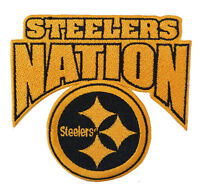 """🏈4"""" PITTSBURGH STEELERS Steeler Nation Iron-on NFL Football Jersey PATCH!"""
