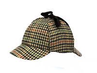 Men's Dogtooth Check Colour Country Sherlock Deerstalker DT4
