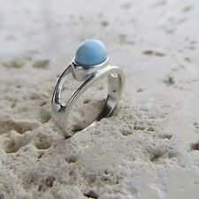 Size 7 1/4, Size O, Size 55 Blue LARIMAR Ring in solid 925 STERLING SILVER #0464