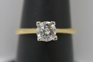 1/2 Carat Solitaire Diamond Engagement Ring - 18k Yellow Gold